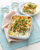 Lasagne with spring vegetables
