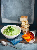 Cashew and bean dip with marjoram