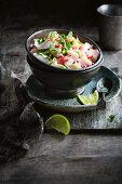 Mahi Mahi, coconut and lime ceviche