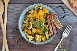 Tortellini stuffed with porcini mushrooms and pumpkin
