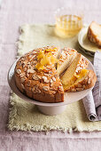 Almond and lemon cake with lemon syrup