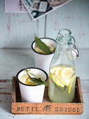 Refreshing lemonade with laurel and ginger