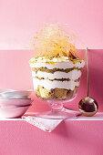 Pistachio and orange blossom trifle