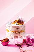 Trifle mit gegrillter Mango und Kokosnuss zu Weihnachten