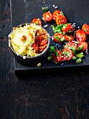 Chilli pot pies with cheesy cauliflower