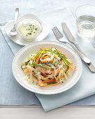 Raw Carrot and Zucchini Tagliatelle