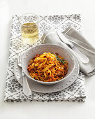Pasta with southern Italian style bolognaise