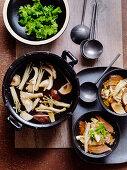 Braised Beef & Mushroom in Ginger Broth