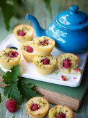 Pistachio and Raspberry Mignardises