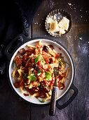 Eggplant, Olive and Pine Nut Pasta Sauce