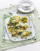 Cheese and vegetable omelette