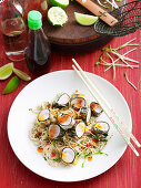 Stir-fried tempura fish with somen noodles