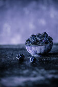 Blackberries in a dish
