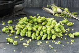 A wreath of hops