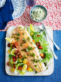 Side of salmon with lobster remoulade