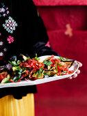 Serving Asian-Style ratatouille