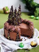 Chocolate ice cream mousse cake