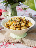 Baby Potatoes, pine nuts, herbs and nut brown butter