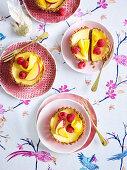 Little lemon curd cheesecakes