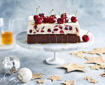 Cherry and ginger ice-cream cake