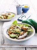 Farro, gorgonzola and walnut salad (Italy)