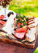Beef Rib Roast with Herb mustard crust