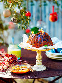 Macadamia and Fig Steamed pudding