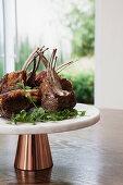 Chargrilled greek lamb rack