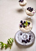 Blueberry and lime fridge cheesecake