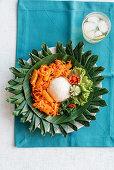 Balado teri kentang (fried mini fish and potatoes in a spicy sauce, Indonesia)
