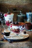 Chocolate cherry trifle