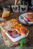 Beetroot lasagne with Parmesan and basil