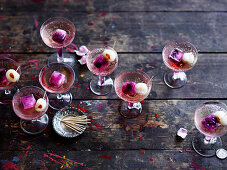 Lychee and Raspberry Fizz