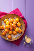Doughnuts with Honey Orange Syrup