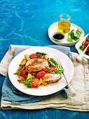 Stuffed pork with proscuitto and ratatouille (Low carb)