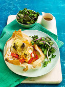 Fish parcel with fennel, lemon and thyme (Low carb)
