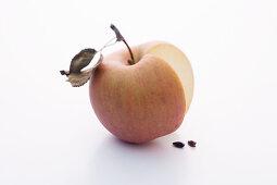 An Arwedille apple, sliced