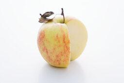 A Jonagold apple, sliced