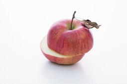 A rose apple, halved