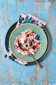 Summer berry porridge