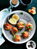 Corn Fritters with Smoked Salmon