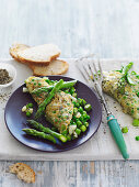 Omlette with Asparagus and Mint