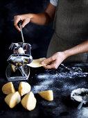 Rolling pasta dough