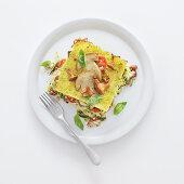 Lasagne del bosco con zucchine (mushroom lasagne with courgette, Italy)