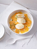 Grainy quark with oranges and fennel