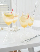 Vanilla apple spritz with calvados and prosecco