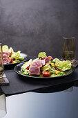 Nicoise salad with tuna