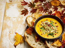 Soup With Spiced Crab