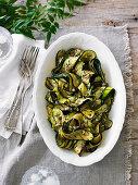 Char-Grilled Zucchini Salad