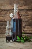 Licore de Murta (homemade myrtle liqueur from Sardinia)